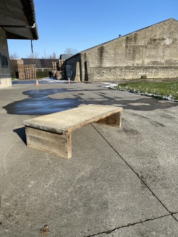 Table basse industrielle en douglas